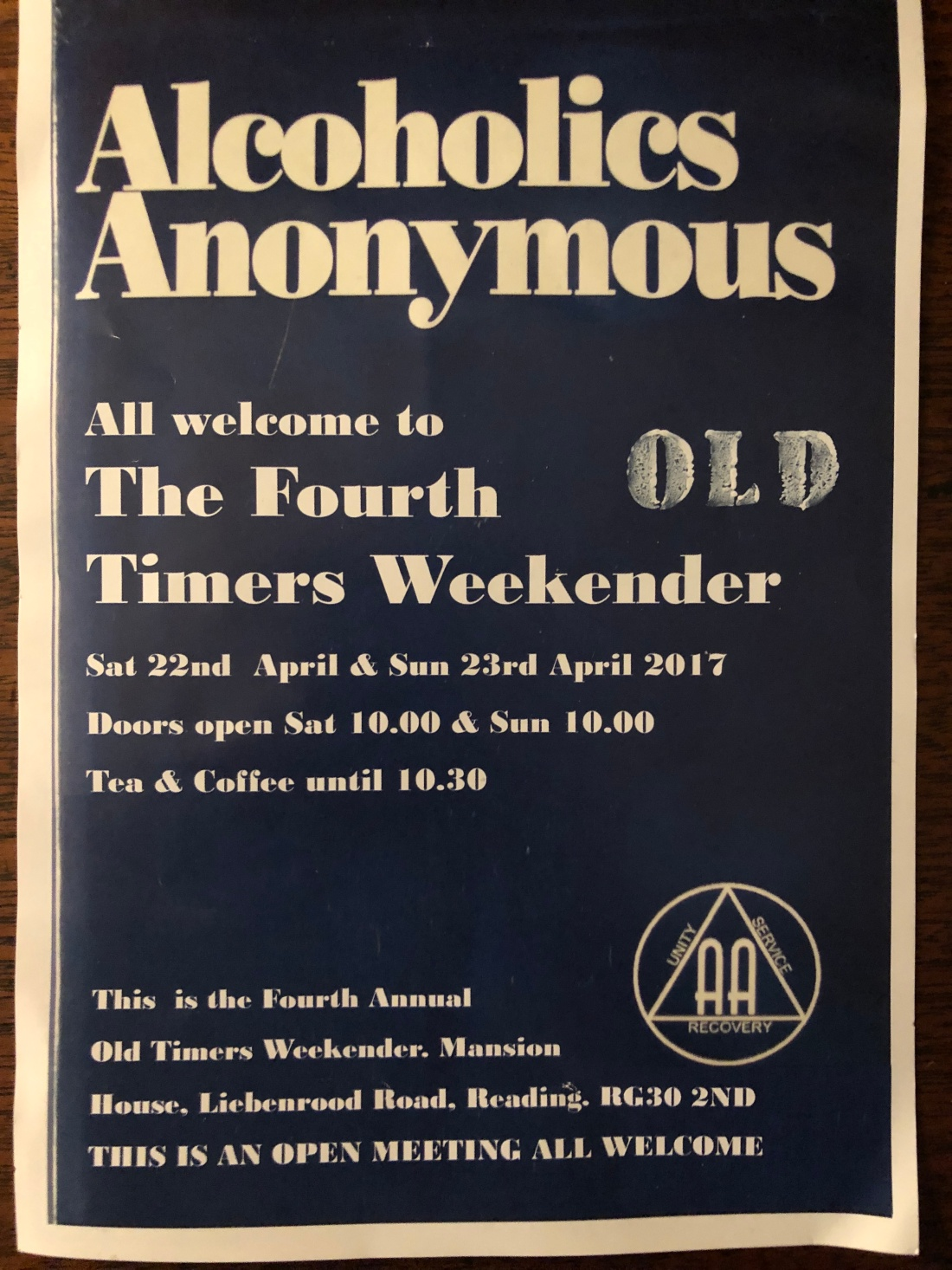 4th Oldtimers FLyer